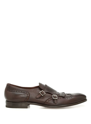 %100 Deri Çift Tokalı Klasik Ayakkabı-Henderson